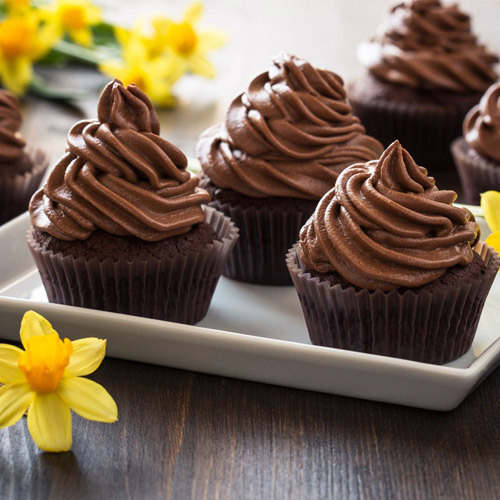 6 Chocolate Fudge Cupcakes